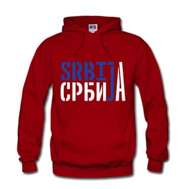 Herren Hoodie Kapuzenpulli Serbien Srbija Beograd Belgrad Balkan S-3XL NEU
