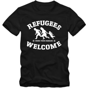 Herren T-Shirt Refugees Welcome Shirt Tee S-3XL NEU – Bild 1