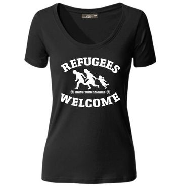 Damen T-Shirt Refugees Welcome Shirt Tee S-3XL NEU – Bild 1