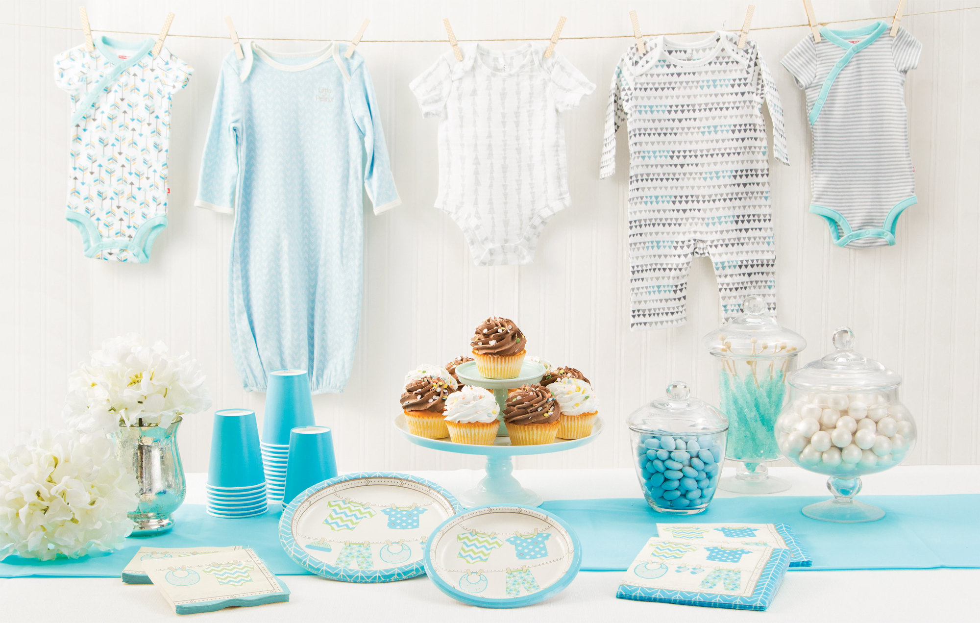 Baby Party Pastell Blau