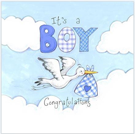Baby Storch Blau
