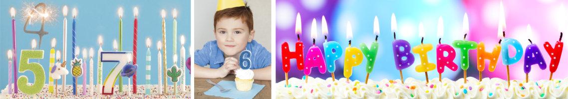 Kerzen für die Geburtstagstorte