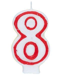 Acht Geburtstags Kuchen Kerze Zahlenkerze