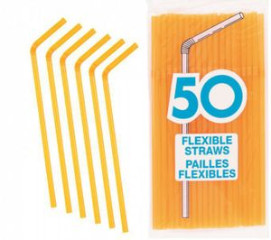 50 Trinkhalme Orange