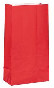 12 Papiertüten Rot