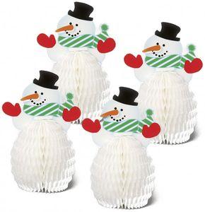4 kleine Schneemann Tischaufsteller