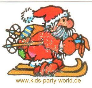 Mini Glitter Sticker Weihnachtsmann