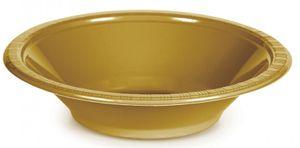 20 Goldene Plastik Schalen