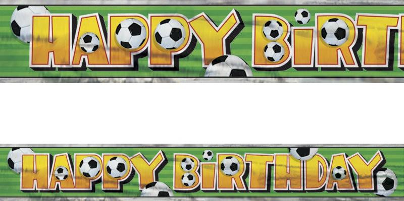 Xxl Fussball Geburtstags Banner