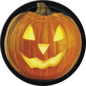 8 kleine Halloween Kürbis Teller