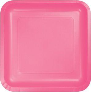 18 quadratische Papp Teller Bonbon Rosa