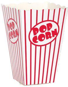 10 große Popcorn Schachteln rot weiß gestreift 15x11x11 cm
