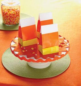 8 Papiertüten Candy Corn – Bild 1