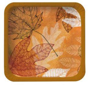 8 kleine Teller Herbstblätter