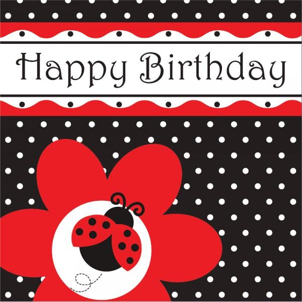 16 Marienkafer Geburtstags Servietten Kinderparty 1 Geburtstag