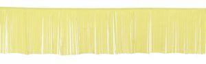 XXL Fransen Banner in Pastell Gelb