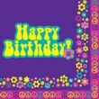 16 Groovy Girl Geburtstags Servietten