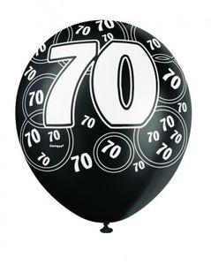 70. Geburtstag Zahlen Ballons Schwarz