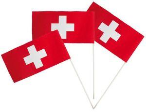 50 Papier Fähnchen Schweiz 12 x 24 cm