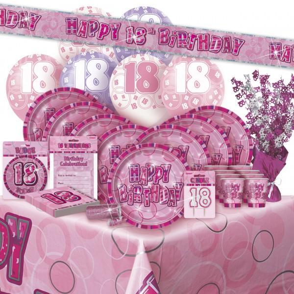 16 Servietten Zum 18 Geburtstag In Pink