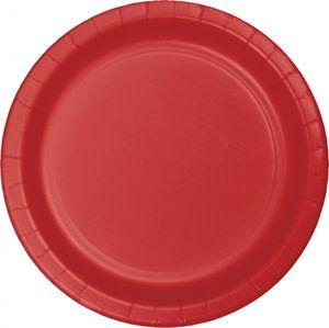 8 Pappteller Klassisch Rot