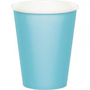 8 Papp Becher Pastell Blau