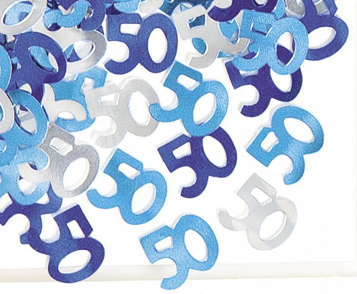 50 Geburtstag Deko Konfetti Blau