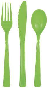 18 Teile Plastik Besteck Hellgrün wiederverwendbar