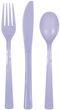 18 Teile Plastik Besteck Lavendel wiederverwendbar