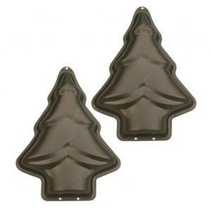 2 Tannenbaum Mini Antihaft Backformen