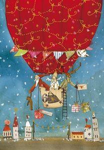 Weihnachtskarte Ballonreise