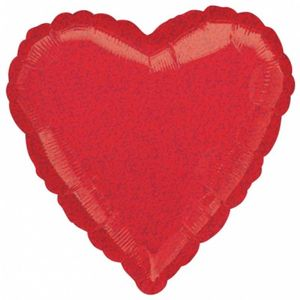 Glitzer Herz roter Folienballon