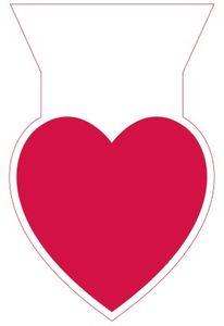 20 rote Herzen Zellophantüten