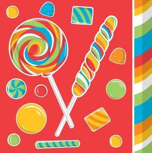 16 kleine Servietten Lollipop