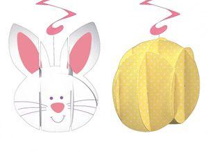 2 3D Spiralen Girlanden Ostern