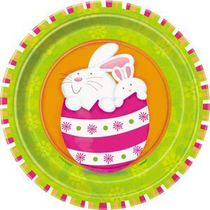 8 kleine Ostern Pappteller Sweet Bunny