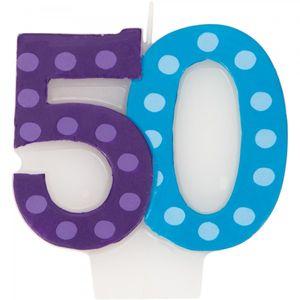 50. Geburtstag Pünktchen Kerze
