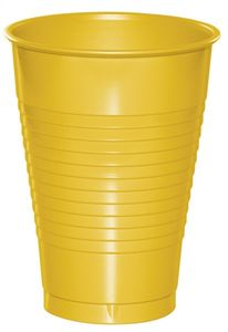 20 Plastik Becher in Sonnen Gelb 350 ml