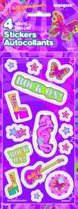 4 Sticker Bogen Rock On