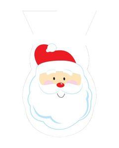 20 Weihnachtsmann Zellophantüten