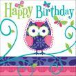 16 Geburtstags Servietten kleine Eule