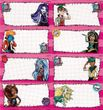 Monster High Heft Etiketten