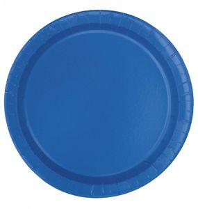 20 kleine Pappteller Königs Blau