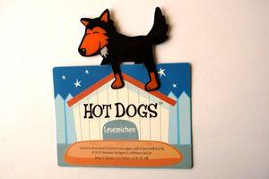 Schwarzer Hund - Hot Dog - Lesezeichen