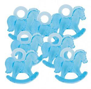 16 Mini Deko Schaukelpferdchen in Blau