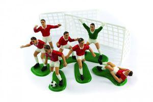 9 Teile Fußballer Tortendeko Set rot – Bild 1