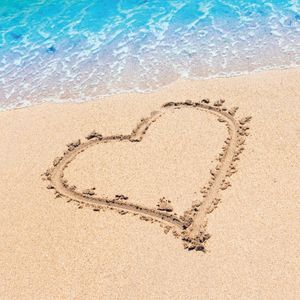 16 kleine Servietten Beach Love