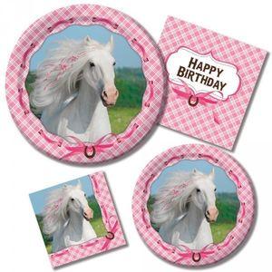 4 Kerzen Picks rosa Pferde – Bild 2