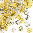 Konfetti Swirls Pastell Gelb