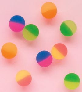 8 bunte 2-farbige Neon Flummis – Bild 2